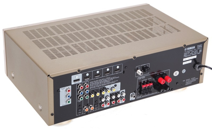 雅马哈(yamaha)htr-3063 5.1声道收音扩音机(功放/金色)