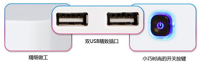 双usb精致插口:u盘,移动硬盘,硬盘盒,usb鼠标,键盘,游戏手柄,外接光驱
