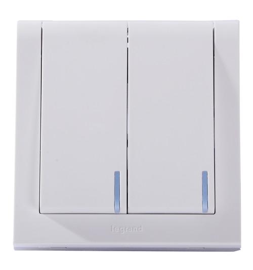 tcl-罗格朗 k5/32/1/2fn二位单极复位带灯开关 开关面板 开关插座