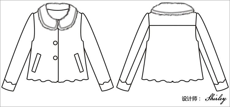 大衣简笔画电脑设计图