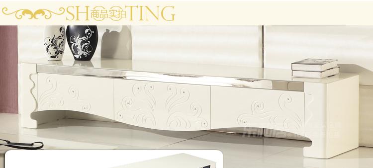 乐和居 时尚简欧镶钻钢化玻璃电视柜 茶几组合客厅储物柜 dsg044图片