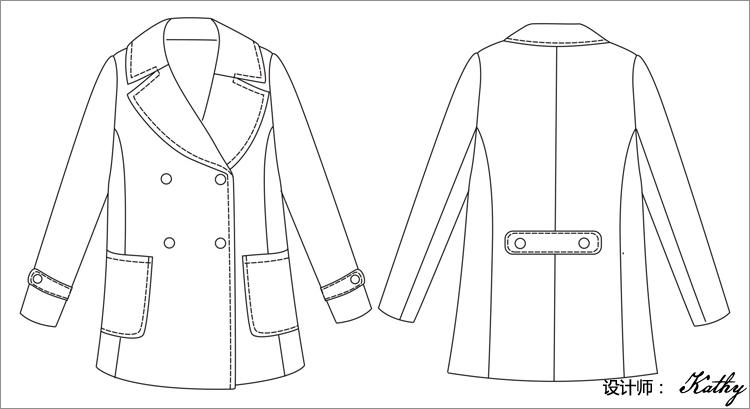 osa2012秋冬装新款女装时尚翻领双排扣毛呢外套呢大衣