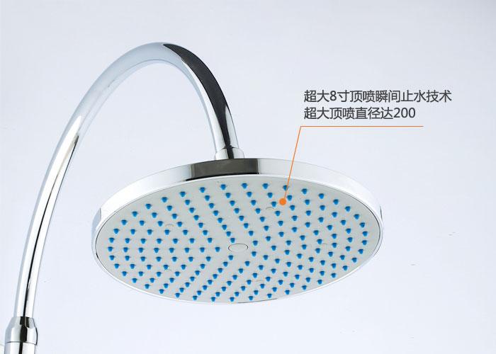 【贝乐ballee】全铜主体欧式弯管升降花洒莲蓬头淋浴器0044