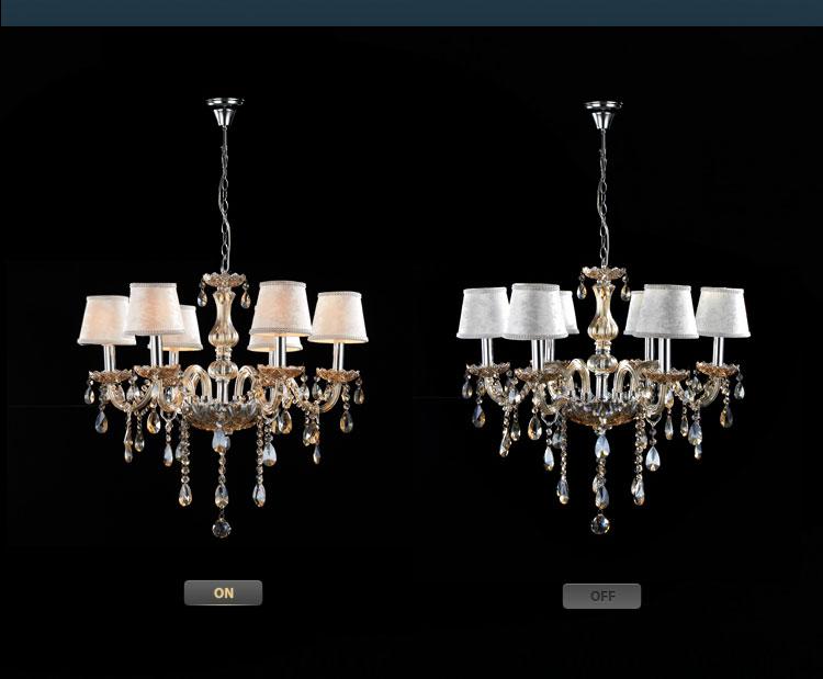 【奥朵】欧式吊灯复古奢华水晶灯客厅灯具餐厅灯卧室灯饰10112