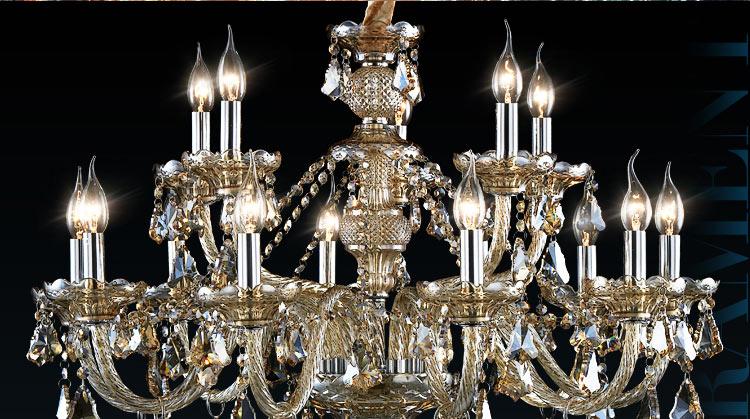 【奥朵】欧式吊灯奢华水晶灯客厅灯具餐厅灯饰卧室大厅灯10284