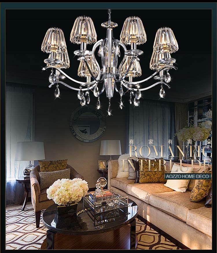 【奥朵】欧式吊灯奢华水晶灯客厅灯餐厅灯卧室灯饰灯具10240