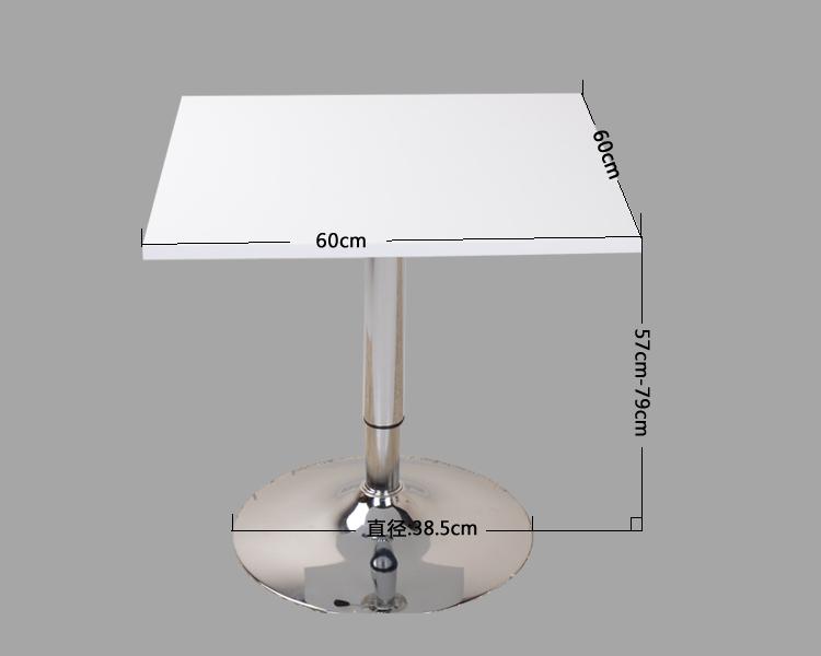【黑白调】欧式创意茶几 正方形可升降时尚简约 户外小茶桌