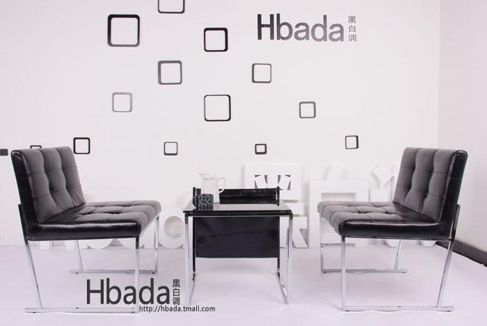 【黑白调】高档欧式双人沙发椅子 现代休闲时尚简约椅图片
