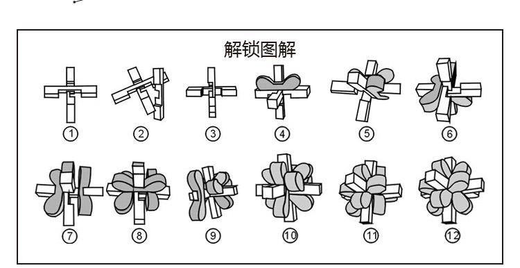 九根孔明锁拆法图解