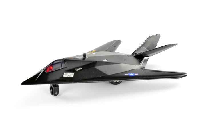 彩珀 夜鹰隐形战斗机 回力合金飞机模型玩具