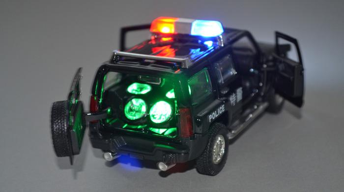 悍马h3特警公安 合金车模型玩具车