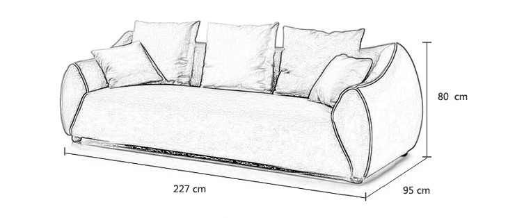 简欧风格麻质布艺沙发组合