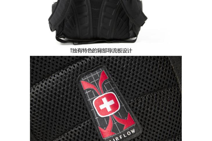 【swissgear瑞士军刀双肩电脑背包书包sa-8118(黑色)