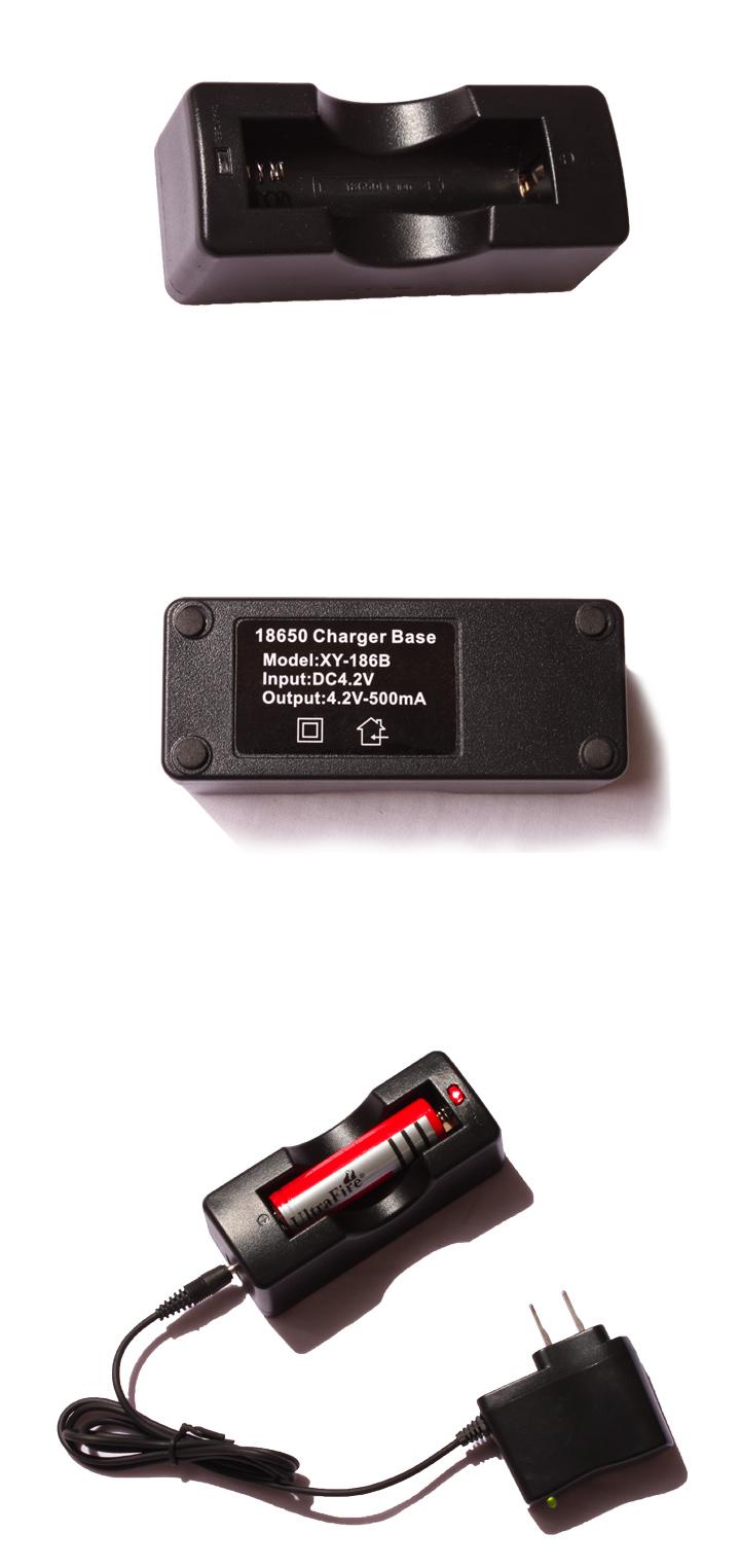 户外客强光手电充电器18650锂电池充电器