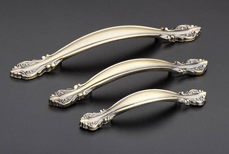 伊可夫橱柜门抽屉柜门拉手欧式仿古铜中式款式青古铜