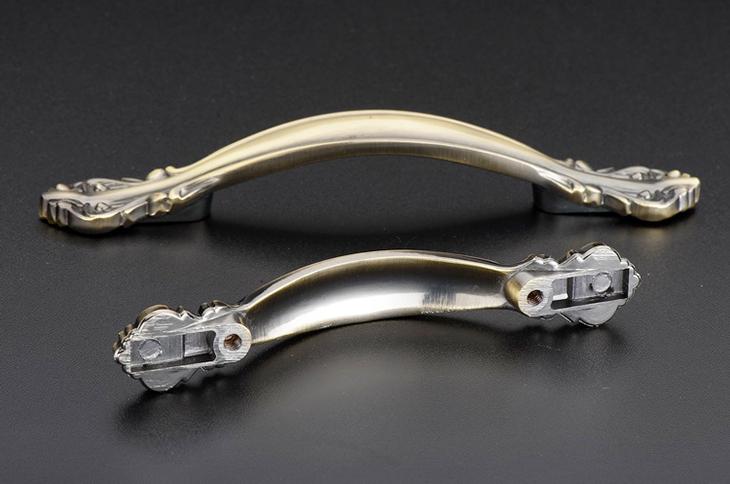 伊可夫橱柜门抽屉柜门拉手欧式仿古铜中式款式青古铜拉手(6136 64mm)
