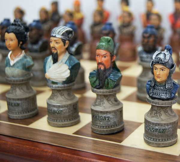 御圣出品 极品立体三国人物国际象棋套装