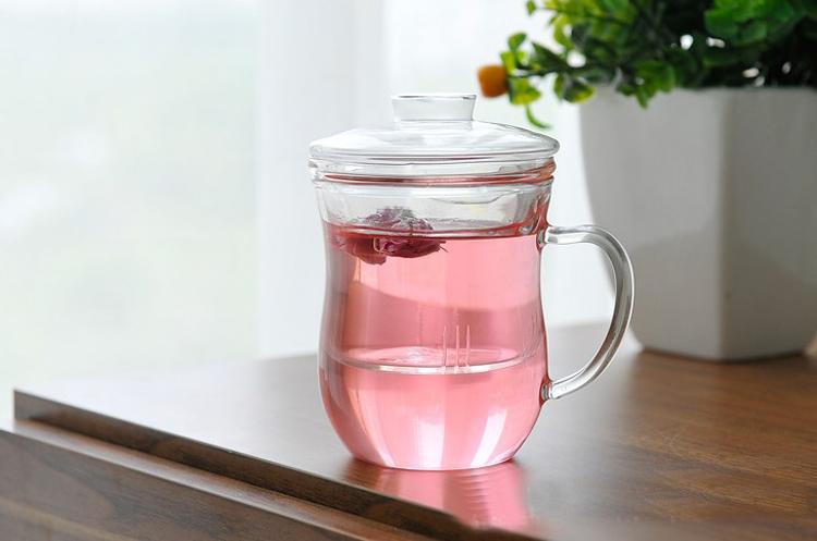 耐热玻璃杯过滤带盖花草茶杯泡茶水杯茶具