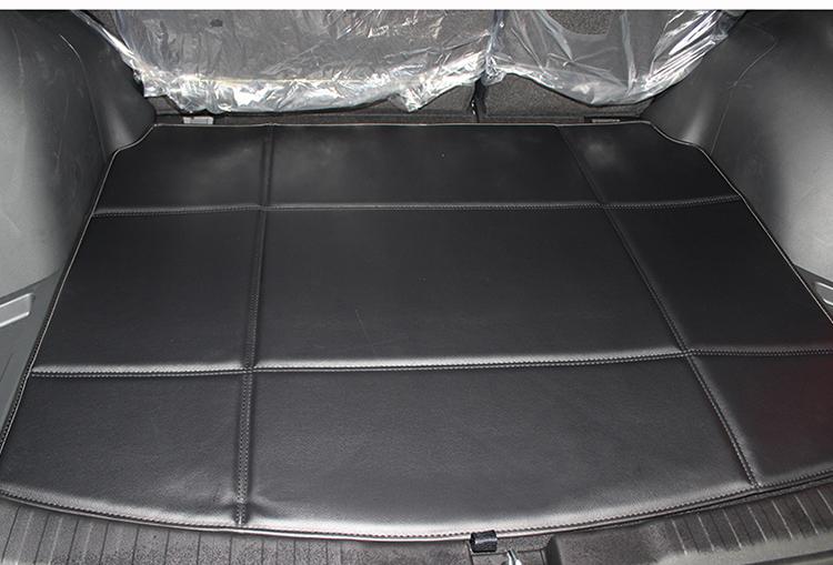 2012年-2013年本田crv后皮革后备箱垫 s 黑色