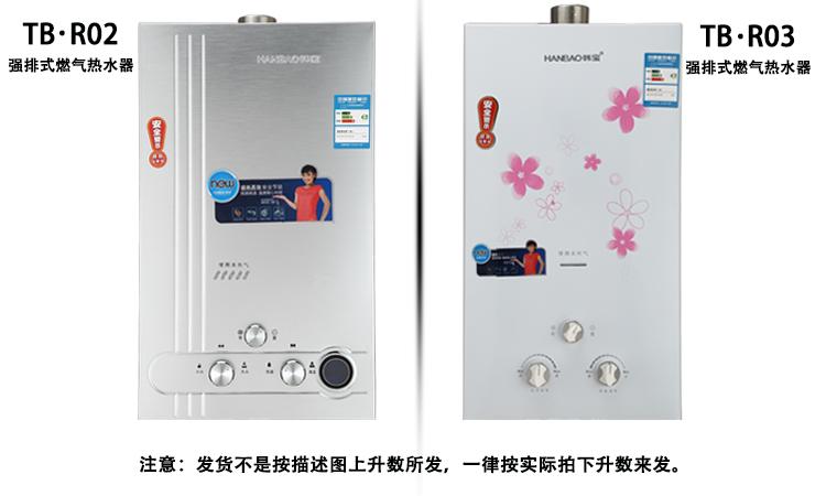 r02燃气热水器 安全强排式煤气热水器