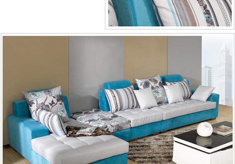 择木宜居 布艺沙发组合客厅转角大小户型布艺沙发 简约现代沙发(灰色