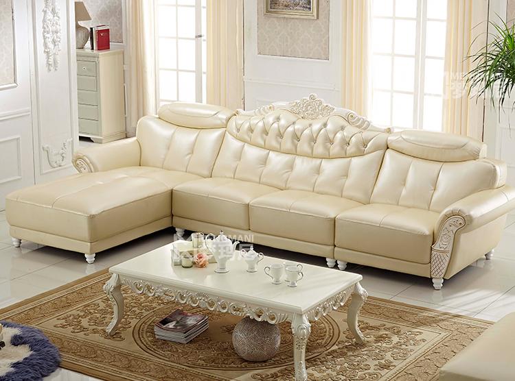 梦玛尼欧式真皮沙发 中厚皮质 客厅组合 中大户型别墅