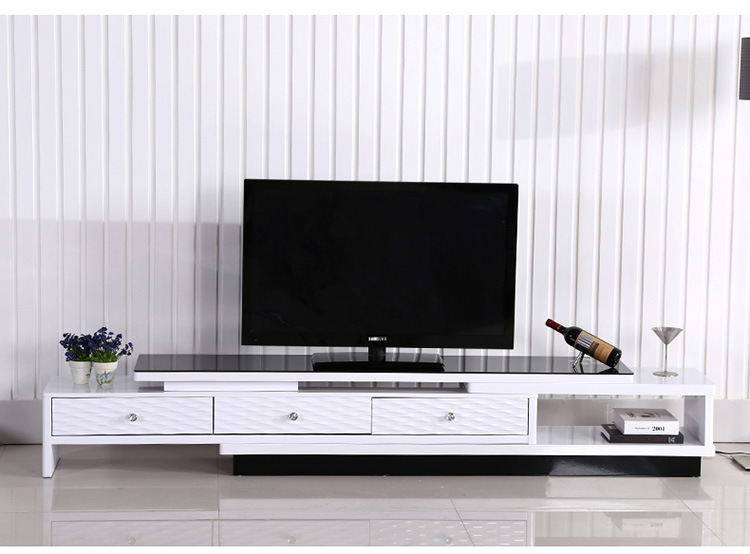 客厅家具电视机柜钢化玻璃