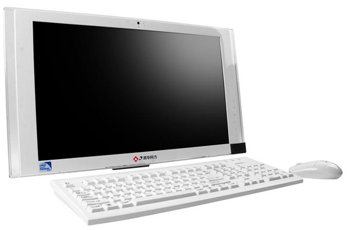 清华同方 v38-22 家用一体机电脑 x2 640/2/320/1g 白色