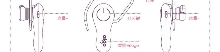 爱国者(aigo)a3蓝牙耳机(白色)