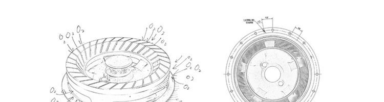 炉灶手绘线稿