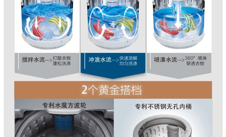 【小天鹅tb75-j5188dcl(s)洗衣机】小天鹅
