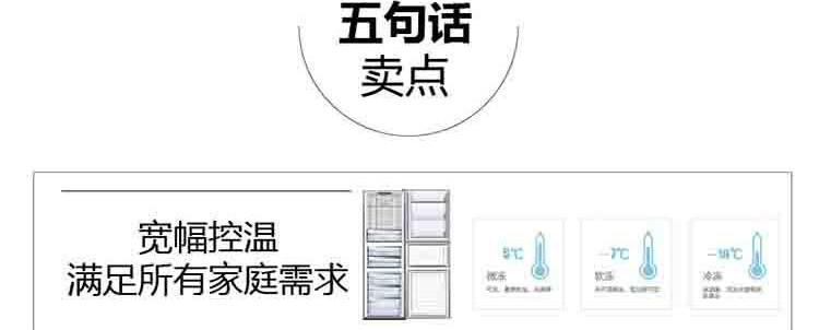 容声冰箱bcd-261wkr1npg-pu22 261升三门冰箱 快速冷冻 锁住新鲜